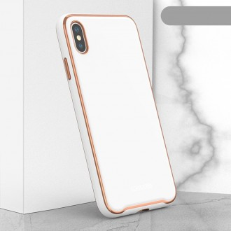 "Baltas dėklas ""Glass Case"" Apple Iphone XR telefonui"