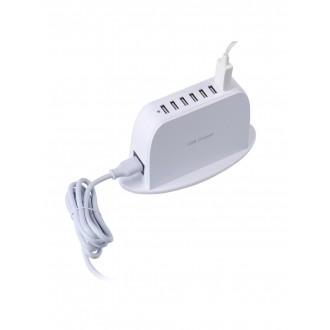 """Baltas įkroviklis buitinis su 6 USB jungtimis """"Multicharger XU700"""""""