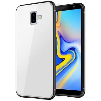 """Baltas silikoninis dėklas Samsung Galaxy J610 J6 Plus 2018 telefonui """"Glass Case"""""""