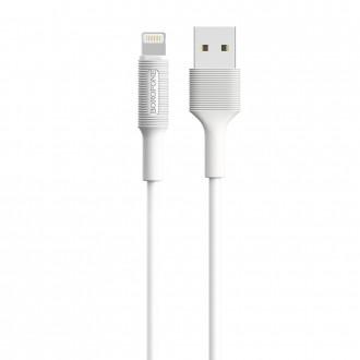 Baltas USB kabelis Borofone BX1 Lightning 1.0m