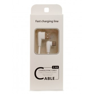 "Baltas USB kabelis FastCharging Line Apple ""Lightning"" , 1.0m"