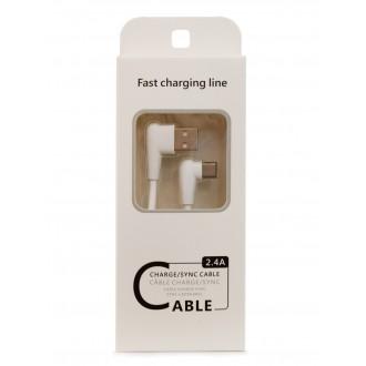 """Baltas USB kabelis FastCharging Line Apple """"microUSB"""" , 1.0m"""