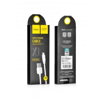 Baltas USB kabelis HOCO X1 lightning 1m