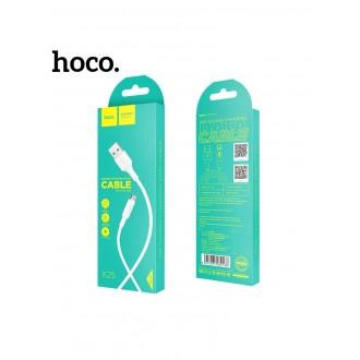 Baltas USB kabelis HOCO X25 microUSB 1m