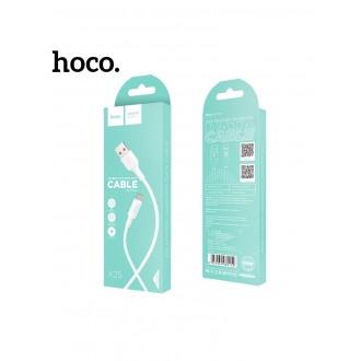 Baltas USB kabelis HOCO X25 Type-C 1m