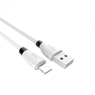 Baltas USB kabelis HOCO X27 1.2m lightning