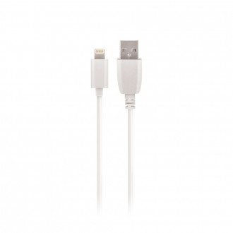 "Baltas USB kabelis Maxlife Apple ""Lightning"" FastCharge, 2A,1.0m"