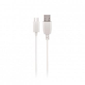 "Baltas USB kabelis Maxlife ""microUSB"" , 1.0m"
