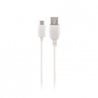 """Baltas USB kabelis Maxlife """"Type-C"""" FastCharging, 3A, 1.0m"""