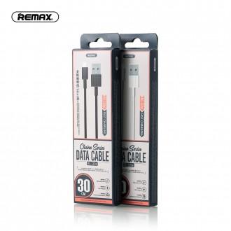 Baltas USB kabelis Remax FastCharging RC-120i Lightning 2.1A 0.3m