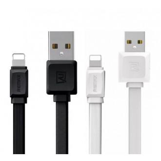 Baltas USB kabelis Remax FastCharging RC-129m microUSB 2.4A 1.0m