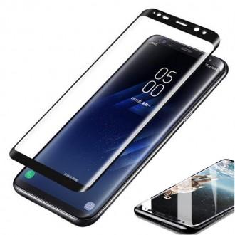 Apsauginis grūdintas stiklas ''9D Full Glue '' Samsung Galaxy G955 S8 Plus telefonui