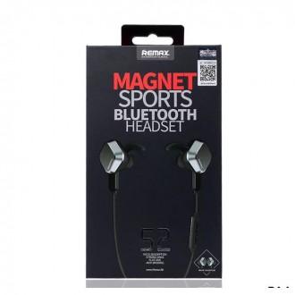 Belaidė laisvų rankų įranga Remax RB-S2 Magnet Sports Bluetooth 4.1