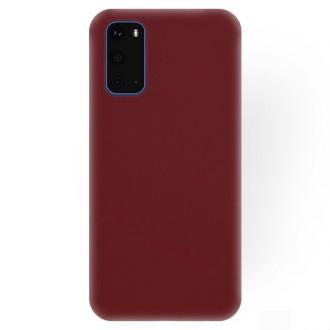 """Bordo silikoninis dėklas Samsung Galaxy S20 telefonui """"Rubber TPU"""""""