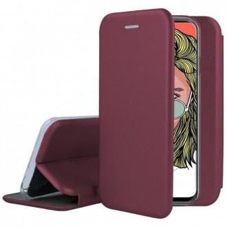 """Bordo spalvos atverčiamas dėklas Huawei P Smart Pro 2019 / Honor Y9s telefonui """"Book elegance"""""""