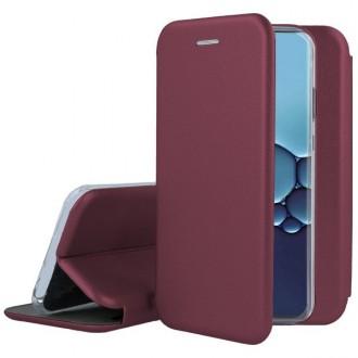"""Bordo spalvos atverčiamas dėklas Huawei P40 Lite telefonui """"Book elegance"""""""