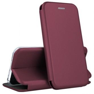 """Bordo spalvos atverčiamas dėklas Samsung Galaxy A31 telefonui """"Book elegance"""""""