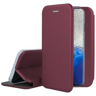 """Bordo spalvos atverčiamas dėklas Samsung Galaxy G981 S20 telefonui """"Book elegance"""""""