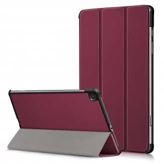 """Bordo spalvos atverčiamas dėklas Samsung T510 / T515 Tab A 10.1 2019 """"Smart Leather"""""""