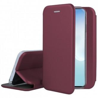 Bordo spalvos dėklas ''Smart Diva'' telefonui Xiaomi Redmi 9