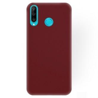 """Bordo spalvos silikoninis dėklas Huawei P30 Lite telefonui """"Rubber TPU"""""""