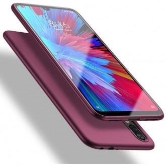 Vyno raudonos spalvos dėklas X-Level Guardian Huawei P Smart 2019 telefonui