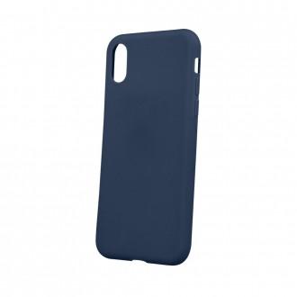 Tamsiai mėlynas matinis silikoninis dėklas telefonui Huawei Mate 20 Lite
