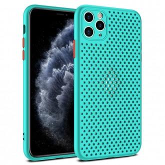 """Dėklas """"Breath Case"""" Apple iPhone 12 / 12 Pro turkio spalvos"""