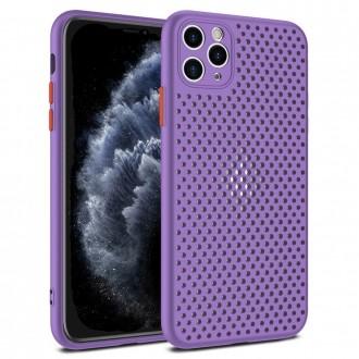 """Dėklas """"Breath Case"""" Apple iPhone 12 / 12 Pro purpurinės spalvos"""