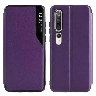 Atverčiamas Dėklas Smart View Xiaomi Redmi Note 10 / Redmi Note 10S purpurinis