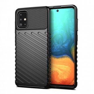 Juodas dėklas Thunder Samsung A02s telefonui