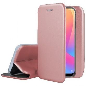 Atverčiamas Dėklas Book Elegance Samsung  A02s  telefonui, rožinis-auksinis
