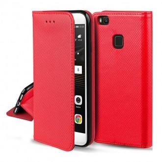 """Raudonos spalvos atverčiamas dėklas """"Smart Magnet"""" telefonui Samsung A52 / A52 5G"""