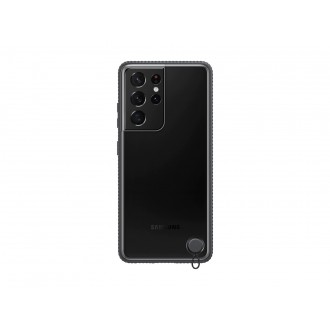 """Originalus Samsung Galaxy S21 ULRA telefonui skaidrus - juodas """"Clear Protective Cover"""""""