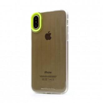 "Geltonas dėklas ""Devia Yonger"" Apple iPhone X / XS telefonui"