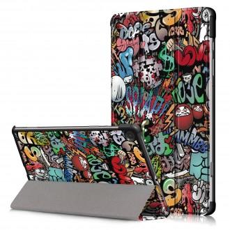 """Grafiti spalvos atverčiamas dėklas Samsung Tab S6 Lite""""Smart Leather"""""""