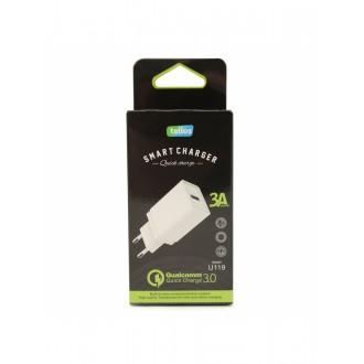 Įkroviklis buitinis Tellos Qualcomm Quick Charge 3.0 su USB jungtimi U119 (3.1A)