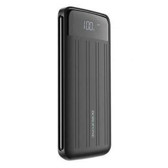 Juoda išorinė baterija Power Bank Borofone BT21A su LCD ekranu 20000mAh