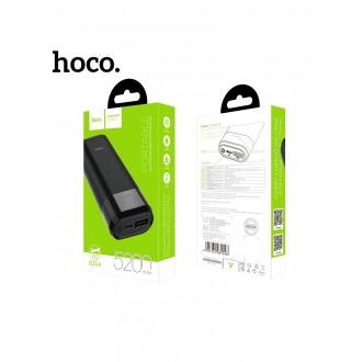 Juoda išorinė baterija POWER BANK HOCO B35A 5200mAh