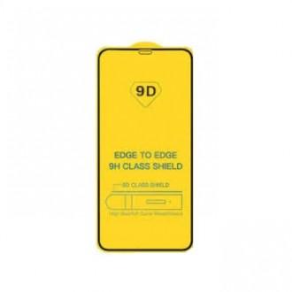 """Juodais apvadais apsauginis grūdintas stiklas Apple iPhone X / XS / 11 Pro telefonui """"9D Gorilla """""""