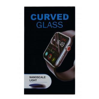 Juodais apvadais apsauginis stikliukas Full Glue Apple Watch 44mm
