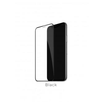 Juodas 3D apsauginis grūdintas stiklas Apple iPhone XS Max telefonui