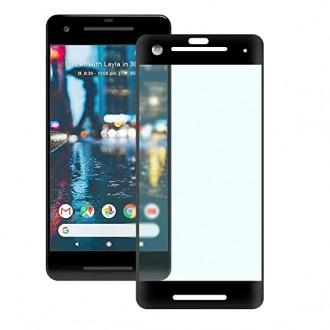 Juodas 3D apsauginis grūdintas stiklas Google Pixel 2 telefonui