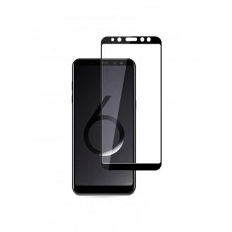 Juodas 3D apsauginis grūdintas stiklas Samsung Galaxy A600 A6 2018 telefonui