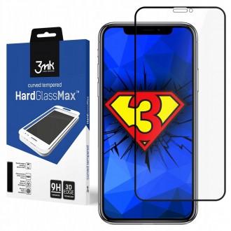 "Juodas 3D apsauginis stikliukas ""3MK Hard Glass"" Apple iPhone XS Max / 11 Pro Max telefonui"