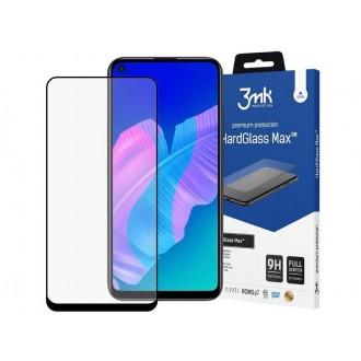 """Juodas 3D apsauginis stikliukas """"3MK Hard Glass"""" Huawei P40 Lite telefonui"""