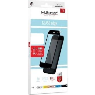 """Juodas apsauginis grūdintas stiklas Apple iPhone 12 Pro Max telefonui """"MyScreen Lite Edge Full Glue"""""""