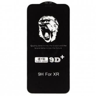 """Juodais apvadais apsauginis grūdintas stiklas Apple iPhone XR / 11 telefonui """"9D Gorilla """""""