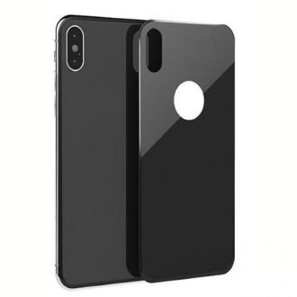 """Juodas apsauginis grūdintas stiklas galiniam dangteliui Apple iPhone X / XS telefonui """"MyScreen Lite Edge Full Glue"""""""