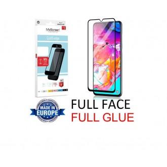 """Juodas apsauginis grūdintas stiklas Samsung Galaxy A705 A70 telefonui """"MyScreen Lite Edge Full Glue"""""""